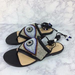 Katy Perry The Lauren black evil eye sandals